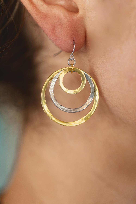 Relic Earrings Mixed Metals