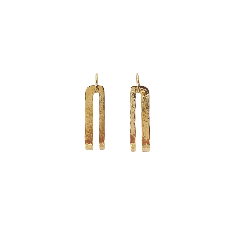Splendid Earrings Goldtoned Brass