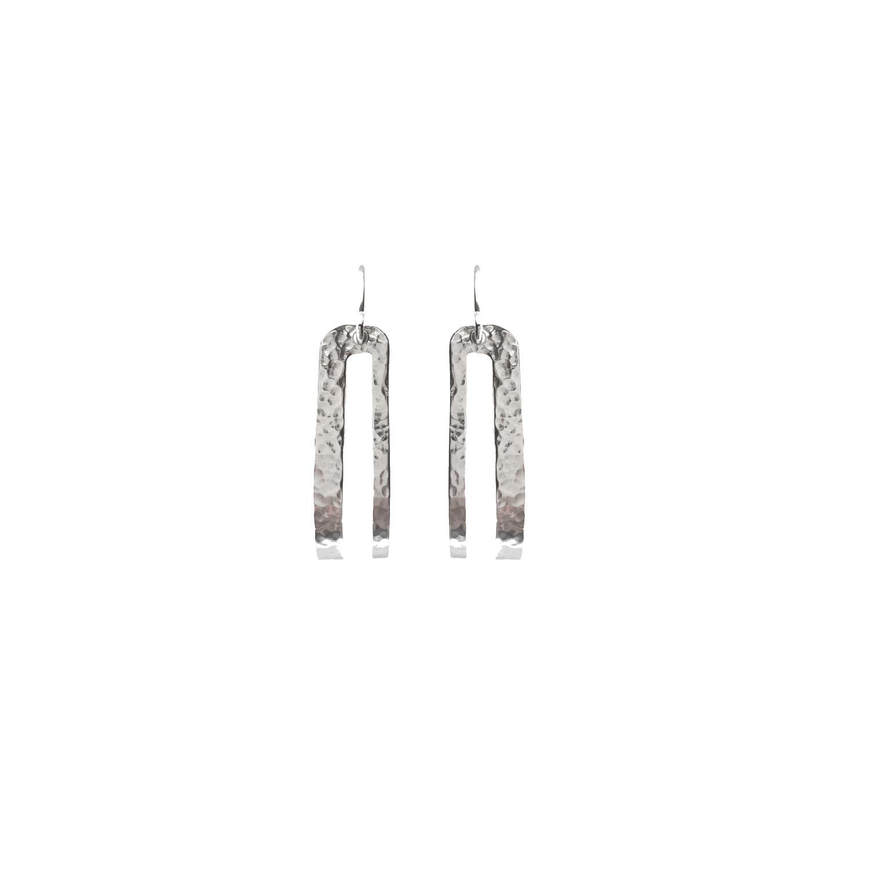 Splendid Earrings Silvertoned Brass