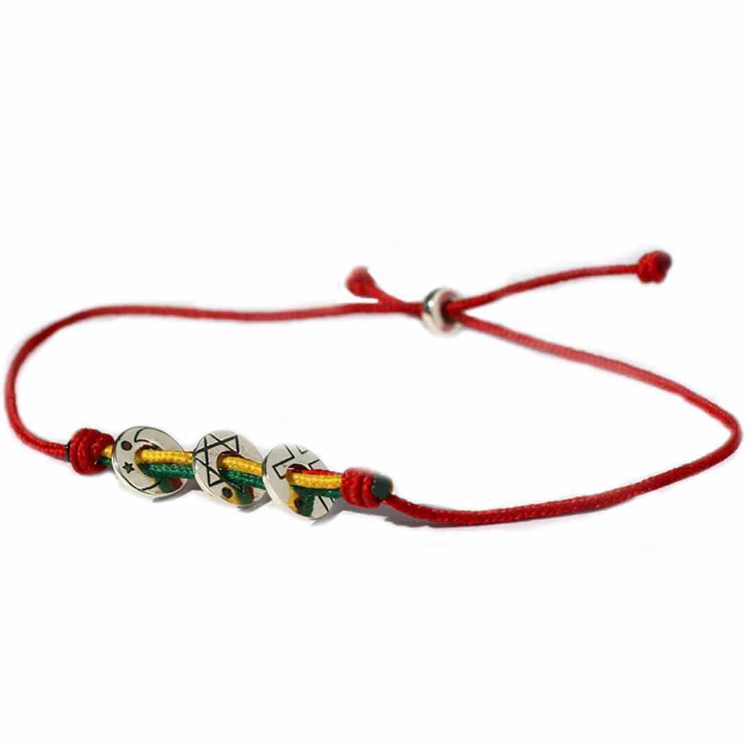 Coexista bracelet Red/Silver