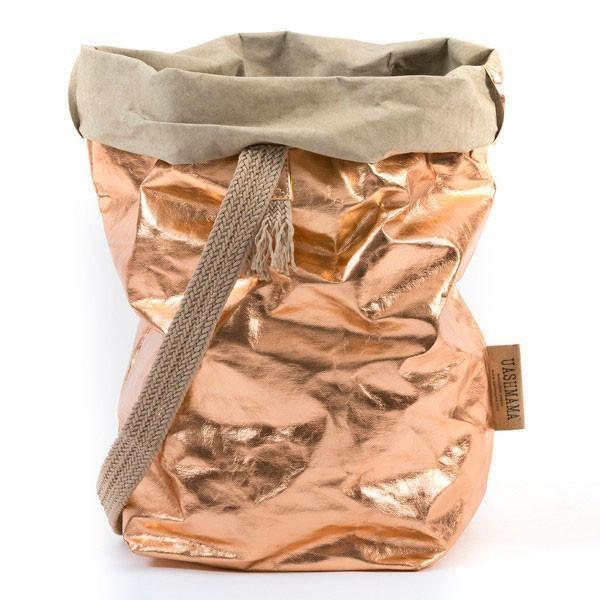Uashmama Paper Carrybag Rose Gold