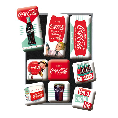 Coca-Cola Diner Magnetsett 9stk