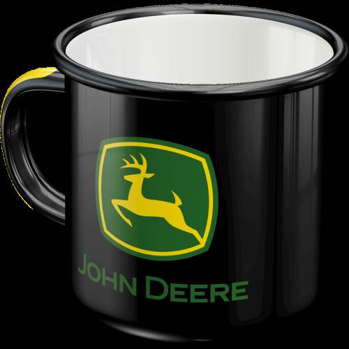 John Deere logo black - emalje kopp
