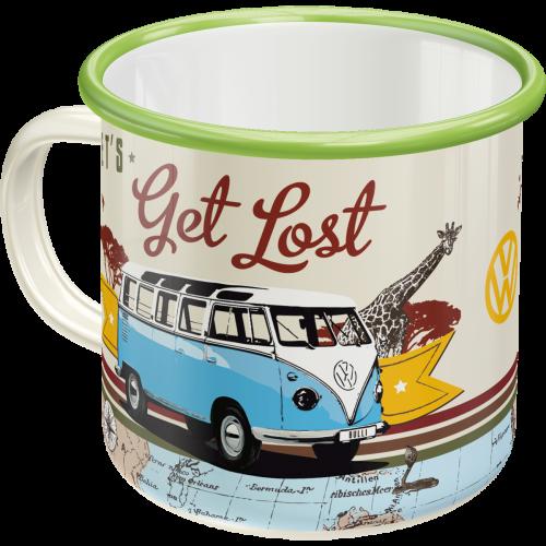 Volkswagen Bulli Let´s get lost emalje kopp