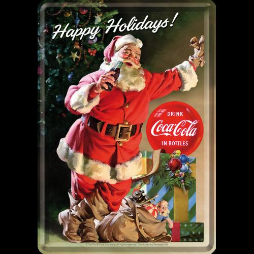 Coca-Cola Happy Holidays Santa Postkort 10x14cm
