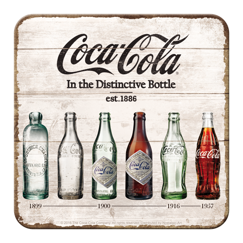 Coca-Cola Bottle Timeline Coaster