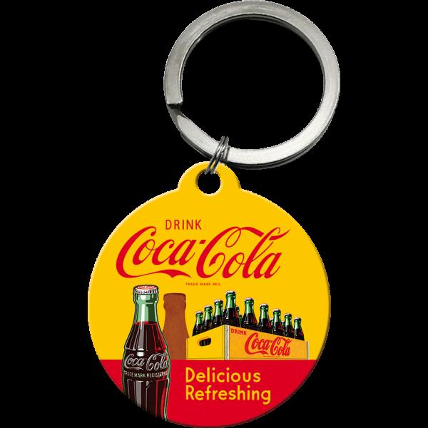 Coca-Cola In Bottles Yellow Nøkkelring