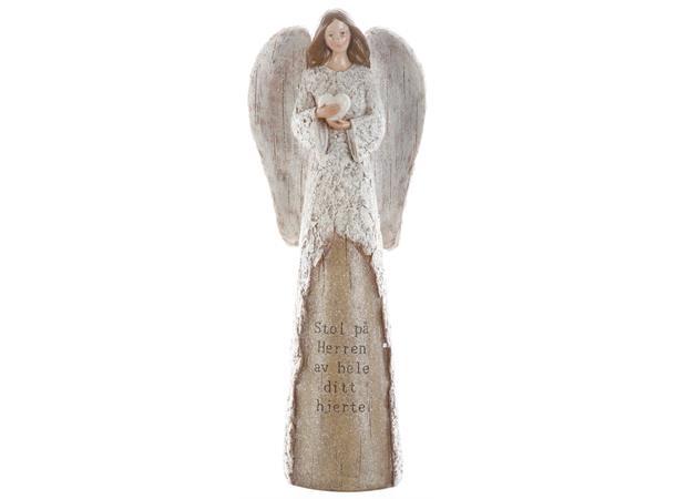 Engel m/hjerte - Stol på Herren av hele...