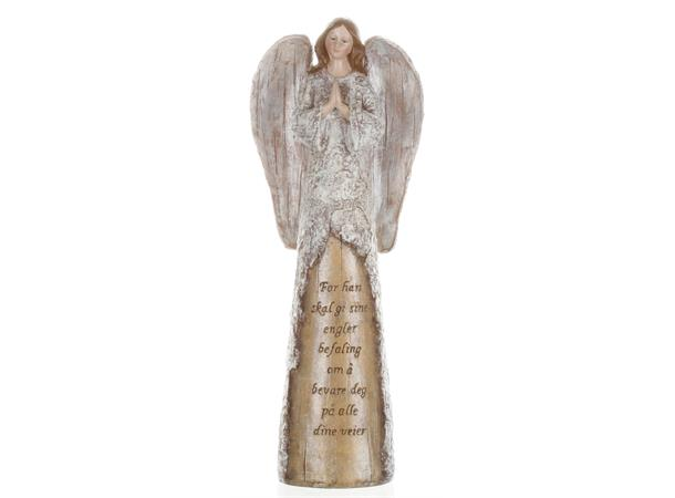 Engel m/foldede hender - For han skal gi sine engler...