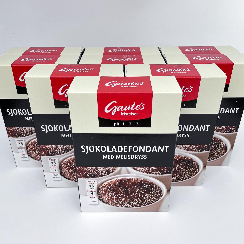 Sjokoladefondant 9 stk