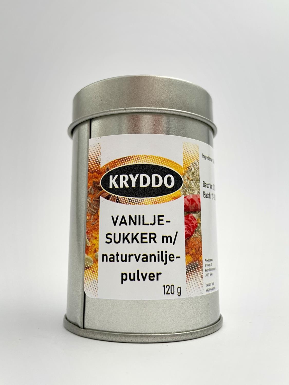Vaniljesukker m/naturvaniljepulver 120 g