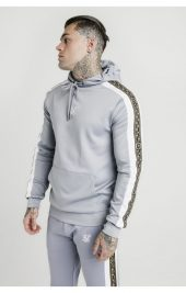 SIKSILK Panelled Racers Joggers - grey ss