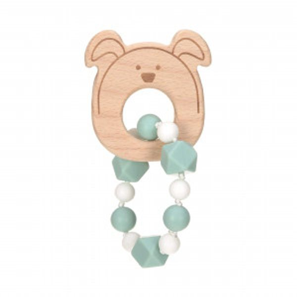 "Biteleke ""Bracelet"" Wood/Silicone Little Chums dog"