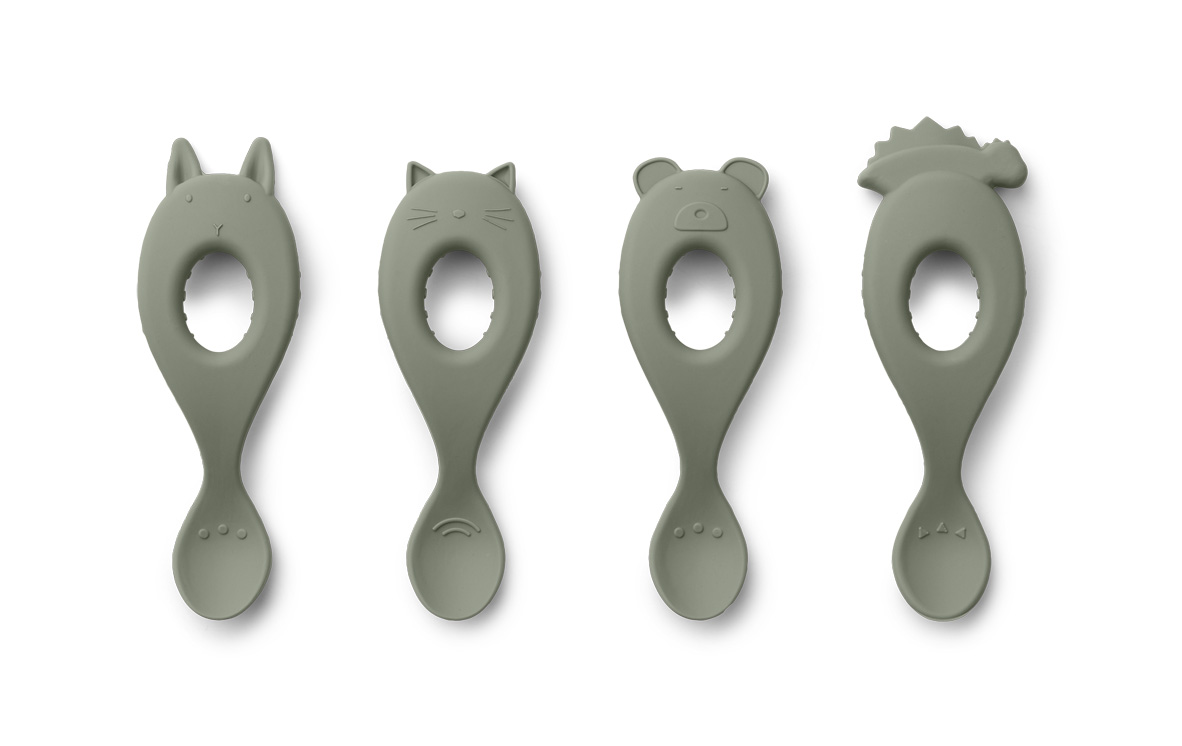 Liva silicone spoon 4-pack