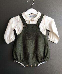 BABIDU Romper m/skjorte Grønn