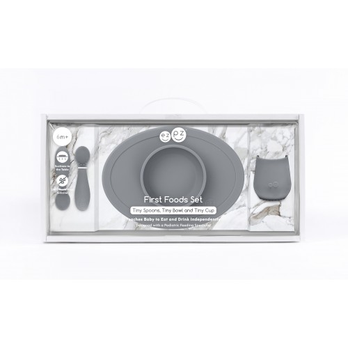 Ezpz - First Foods Set (Grey)