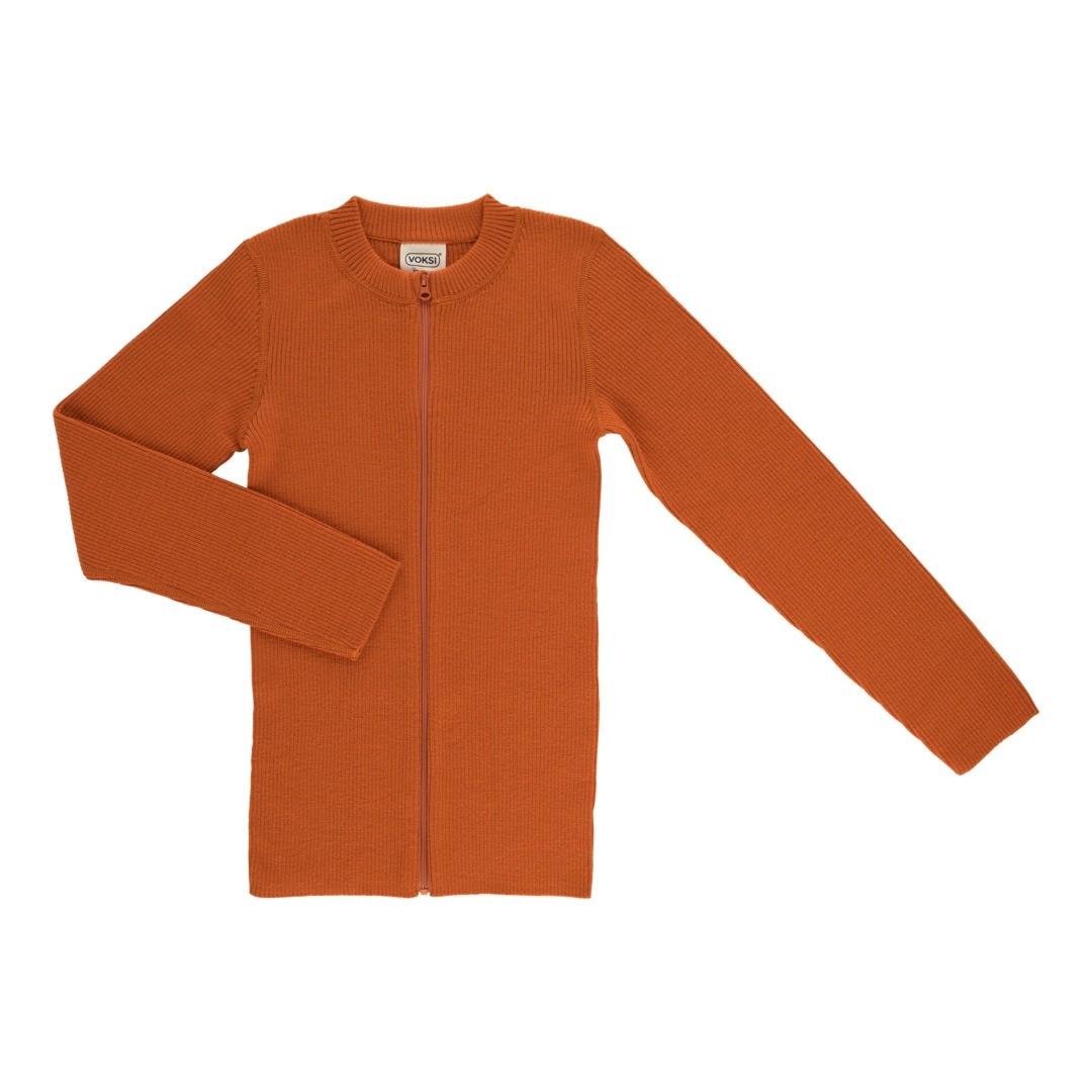 Voksi® Wool, Merinoull Genser, Warm Orange