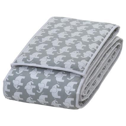 Sengekant elefant grå