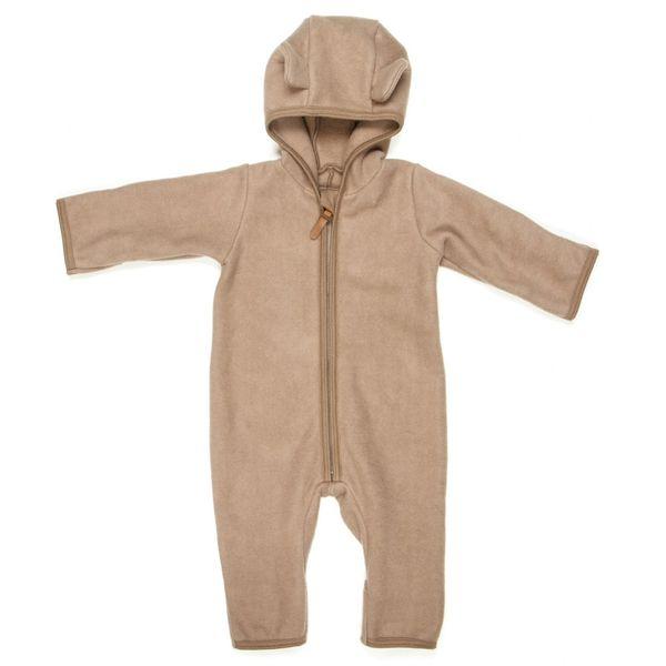 HUTTELIHUT - ALLIE Babysuit w/ears cotton fleece Nougat