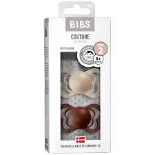 Bibs Couture 2 Pack Vanilla & Mocha - Silicone