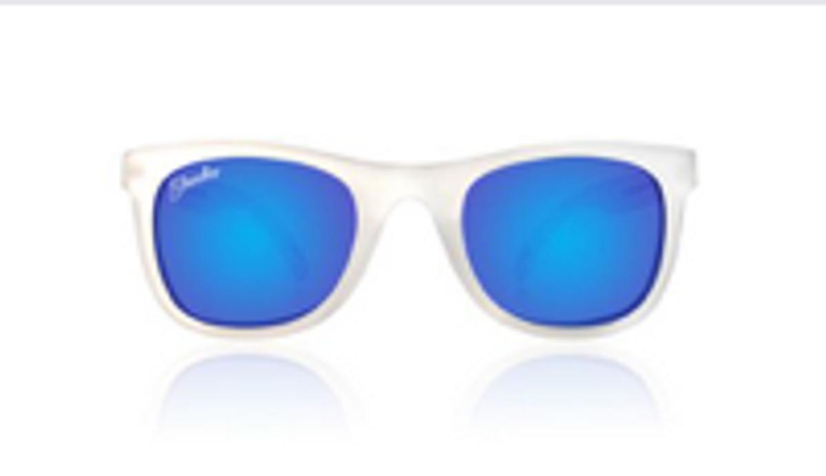 Shadez VIP polarized Junior 3-7år White-Blue