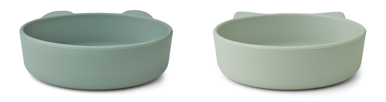 Liewood Vanessa bowl 2-pack - Mint mix