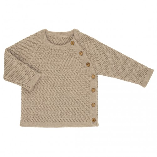 Voksi® Wool, Honeycomb Genser, Melange Sand