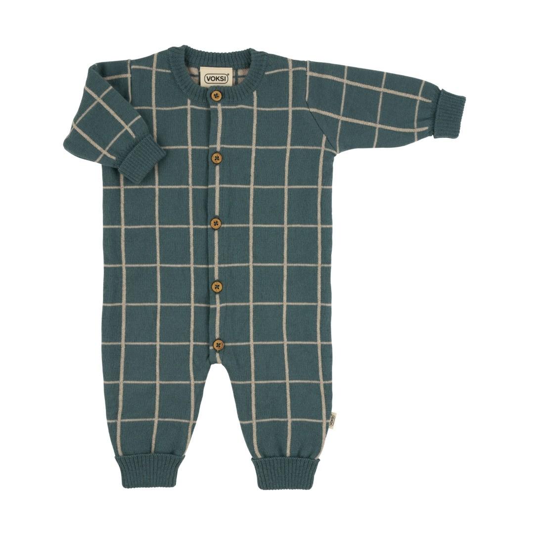 Voksi® Wool, Merinoull Mønster Jumpsuit, Sea Green