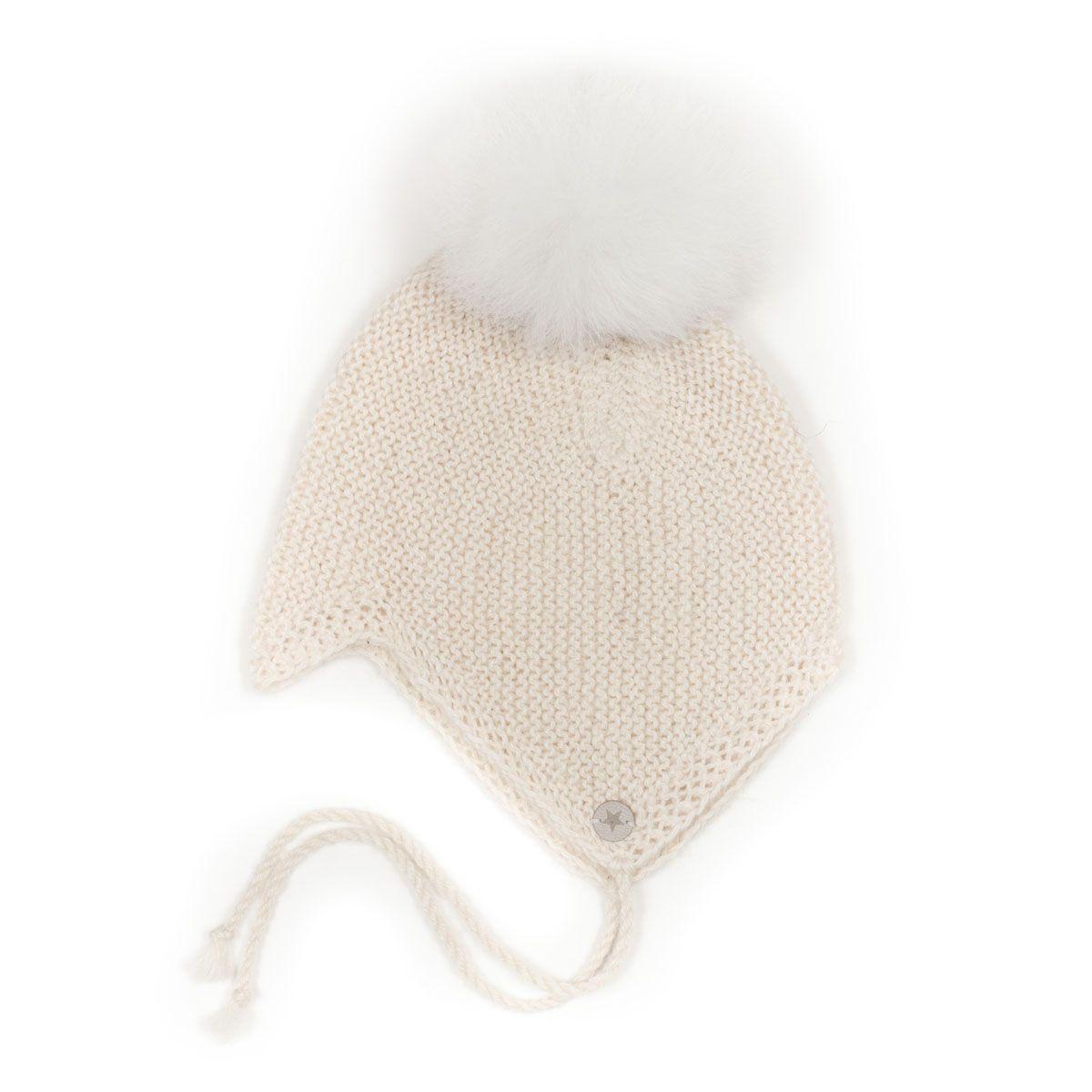 Huttelihut BABYHUT Alpaca Wool Off White/White