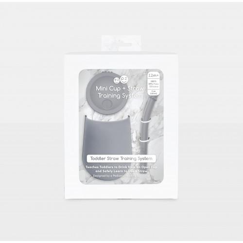 Ezpz - Mini Cup + Straw Training System (Grey