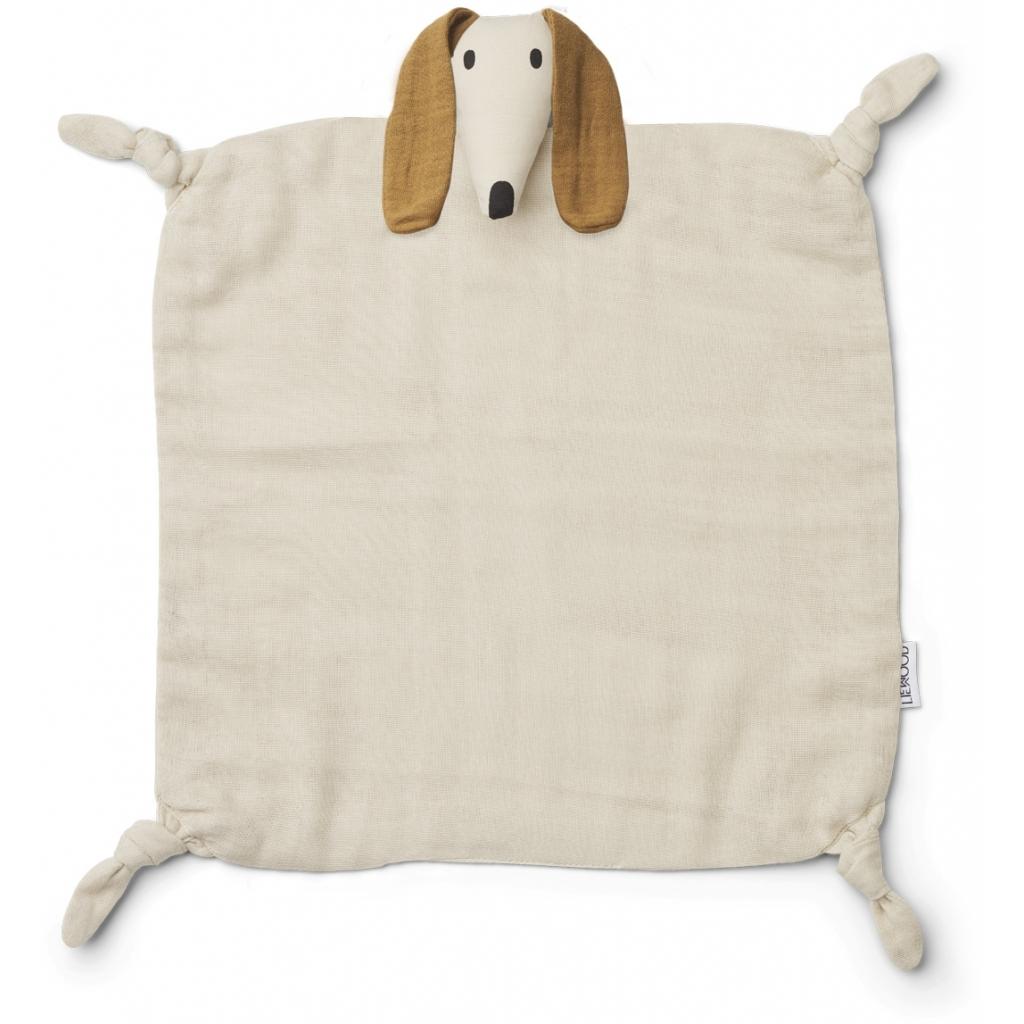 Liewood Agnete cuddle cloth, Dog sand