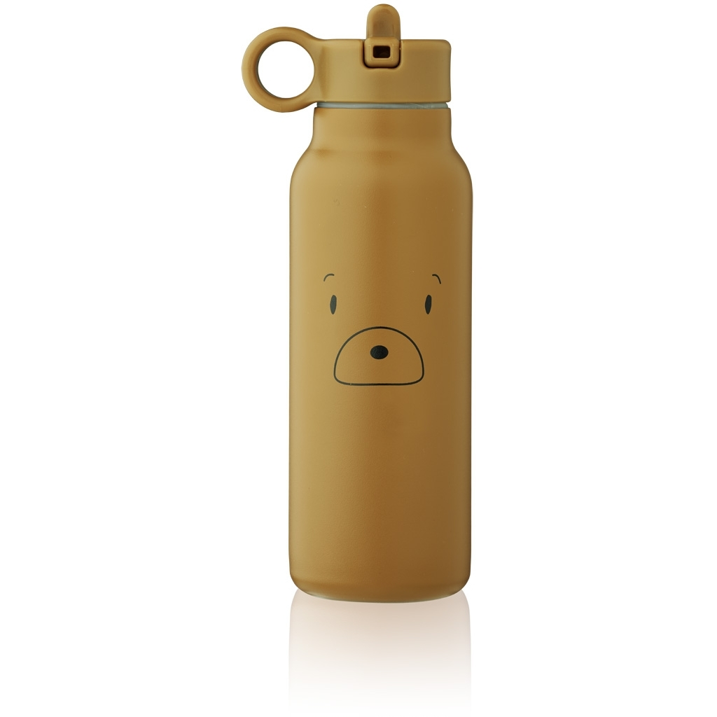 Liewood Falk water bottle 350 ml, Mr bear golden caram