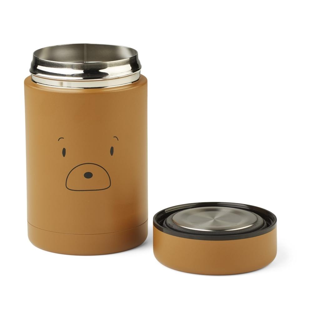 Liewood Bernard food jar, Mr bear golden caramel