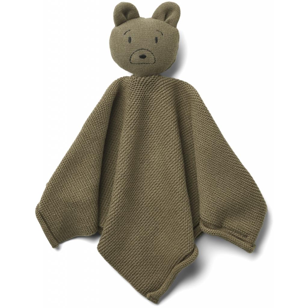 Liewood Milo knit cuddle cloth, Mr bear khaki