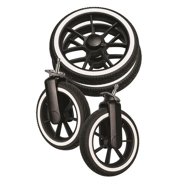 NXT90/F Hjulpaket Black solight-ecco® / White (4 st)