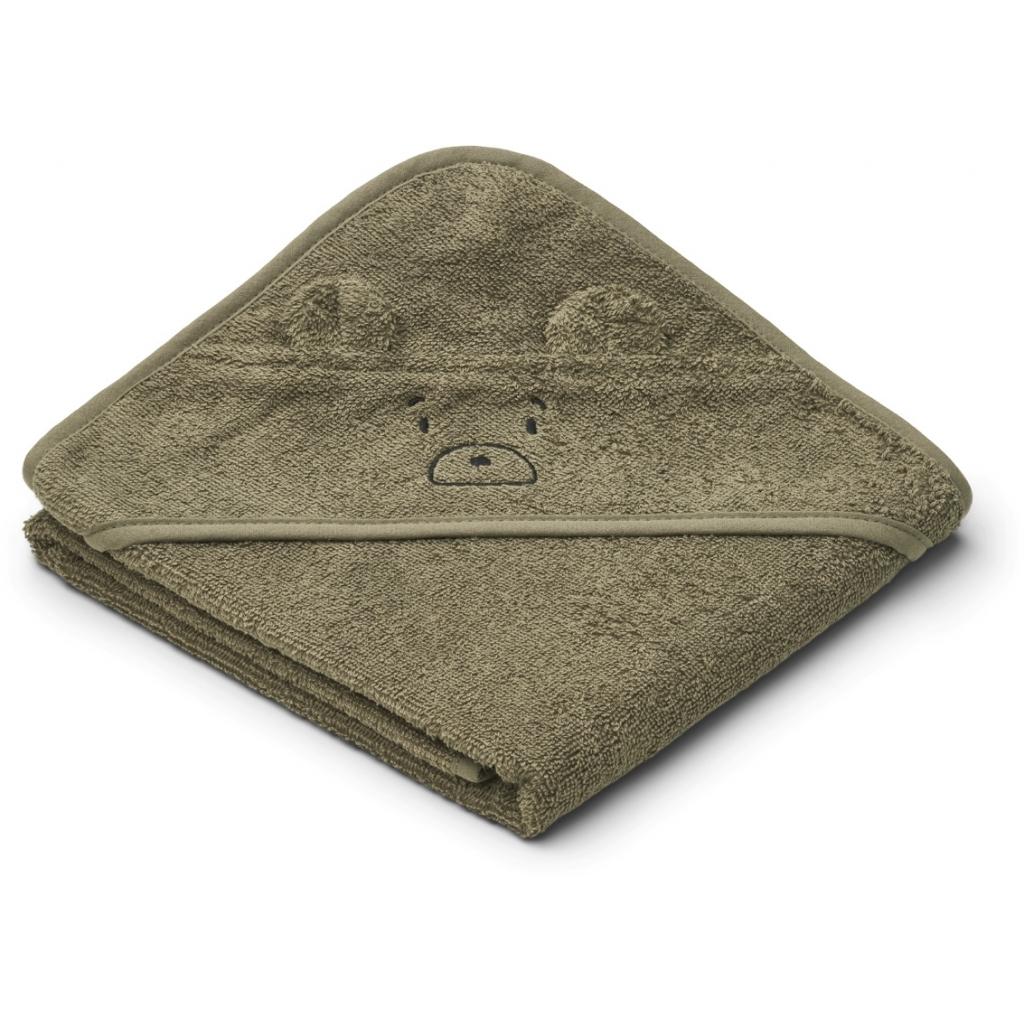 Liewood Albert hooded towel, Mr bear khaki