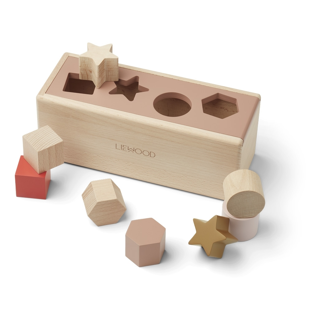 Liewood Midas puzzle box, Geometric tuscany rose multi mix