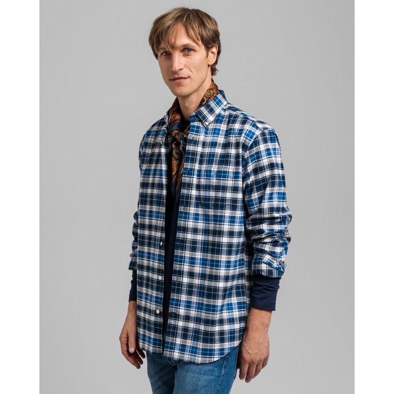 Gant  D1. BRUSHED OXFORD PLAID REG BD