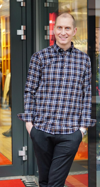 Oscar of Sweden flanell skjorte