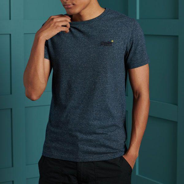 Superdry OL Vintage EMB Crew Blå T-shirt