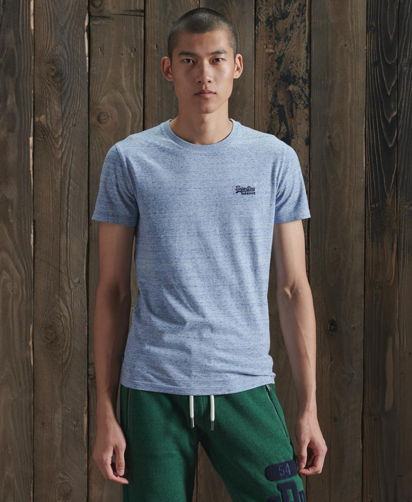 Superdry Organic Cotton Vintage Embroidery T-Shirt Light Blue