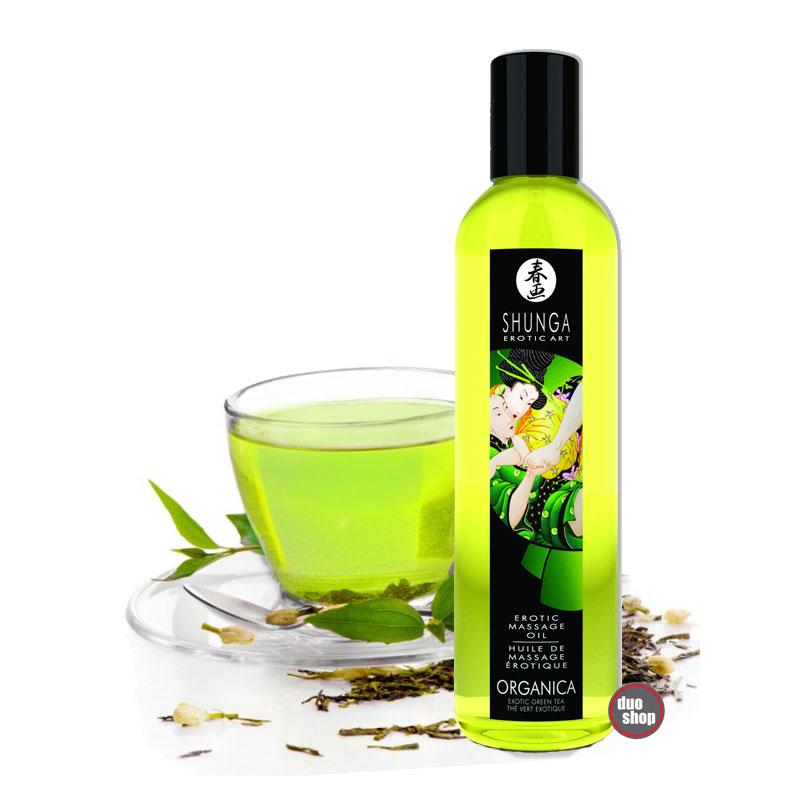 Shunga Grønn Te Massasjeolje