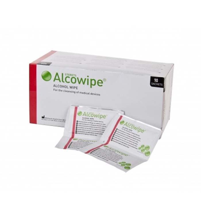 Sterile Våtservietter 10pk Alcowipe