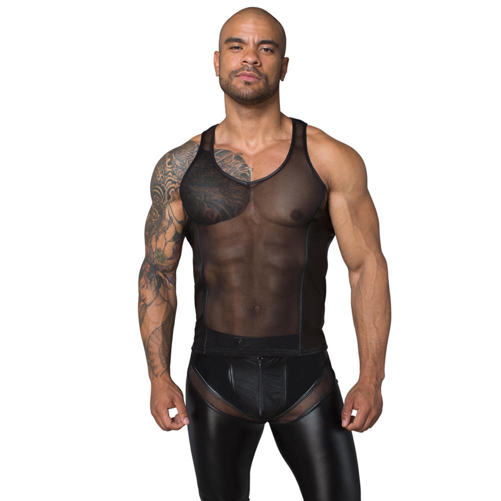 Jordan Transparent Singlet Noir