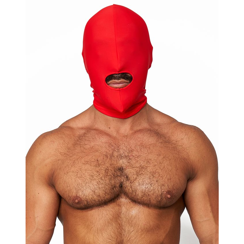 Mr.B Lycra Maske Åpen Munn Rød