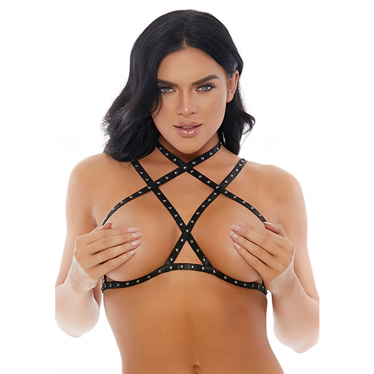 Forplay Cross My Stud Harness Silver