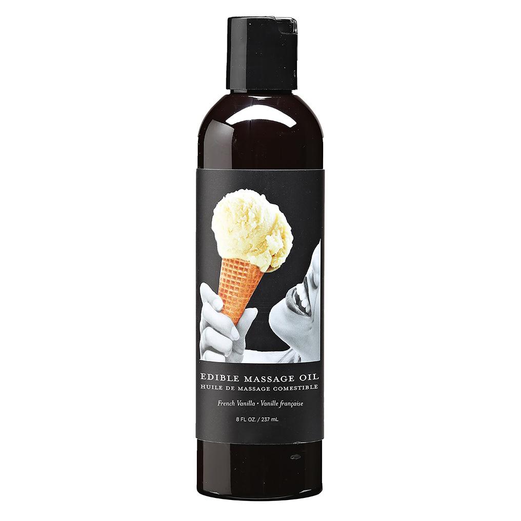 Earthly Body Spiselig Massasjeolje Vanilla 237ml