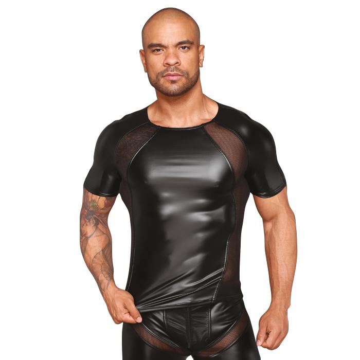 Michael T-skjorte Wetlook Noir