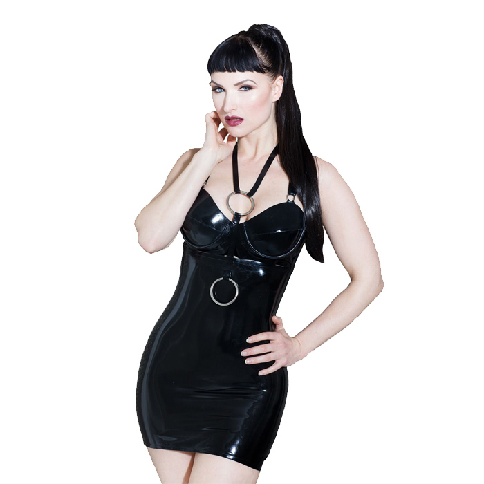 Honour Latex Exposed Goth Kjole
