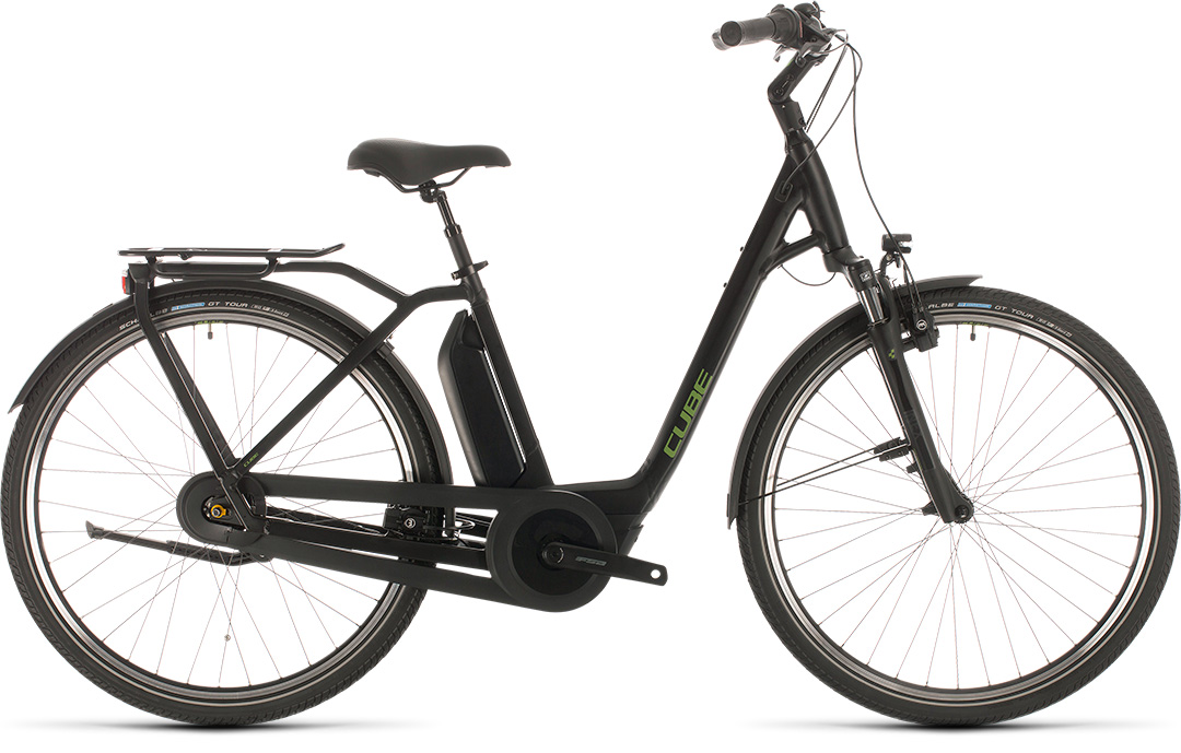 Cube Town Hybrid Pro RT 500 black´n´green 2020